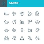Management  - Thin Line Icon Set