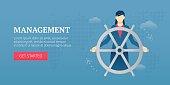 Management. Web banner