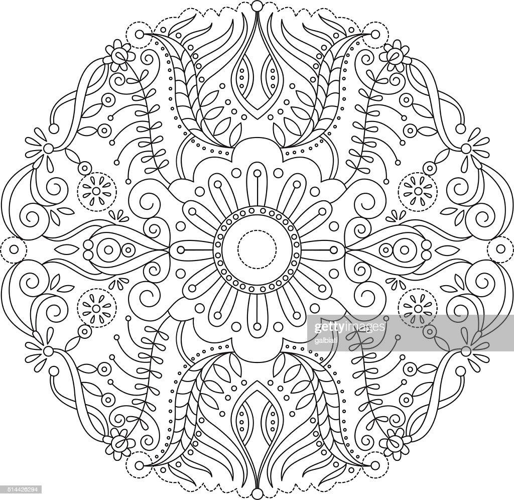 Mandala 2 : stock illustration