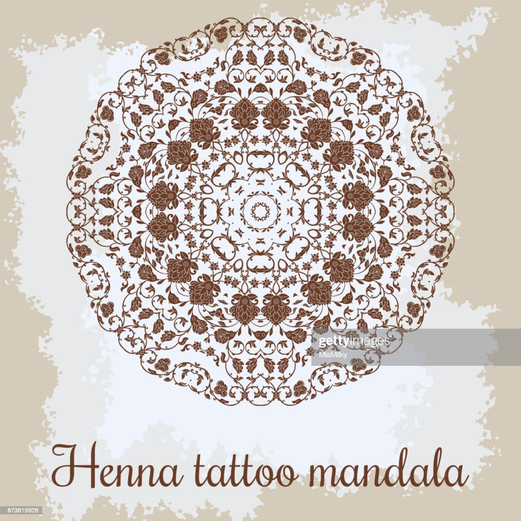 Mandala Beautiful Handdrawn Floral Round Ornament Ethnic Lace