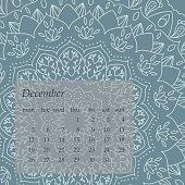 Mandala Calendar December 2016.