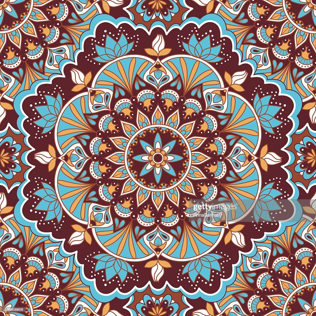 Mandala color seamless pattern