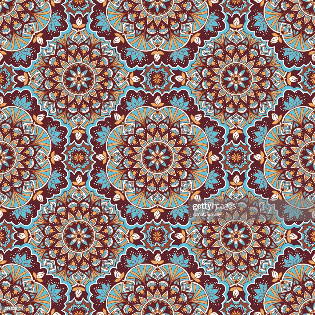 Mandala color seamless pattern