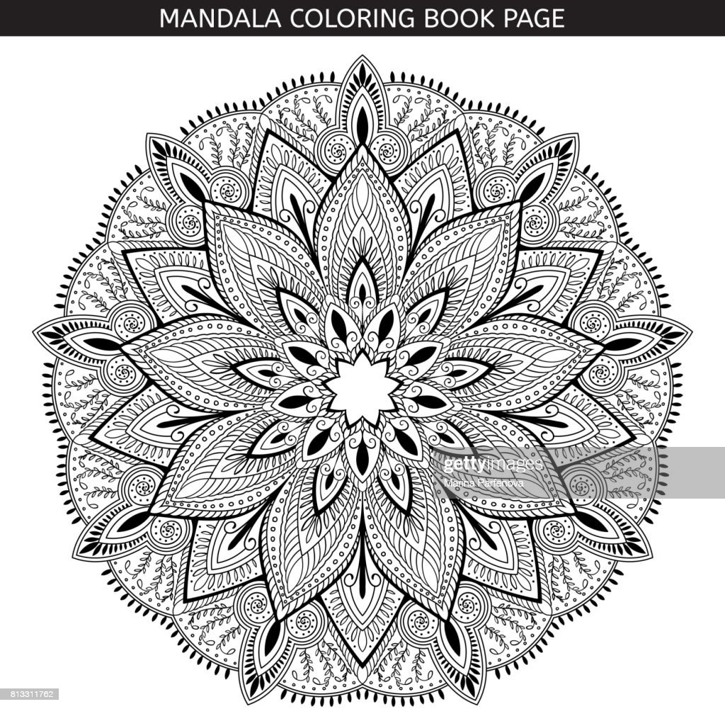 Mandala Kleurplaten Boek.Mandala Boek Kleurplaten Indiase Antistressprogramma Medaillon Witte