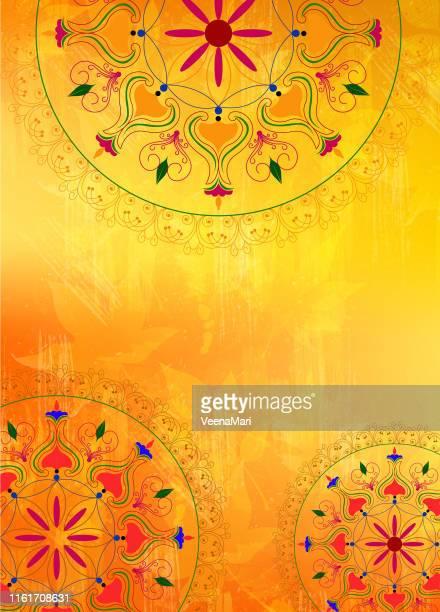 mandala design - mandalas india stock illustrations