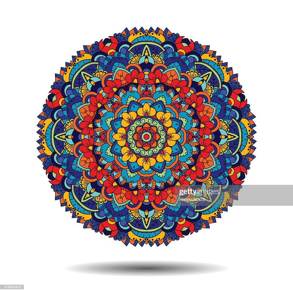 Mandala floral design element.