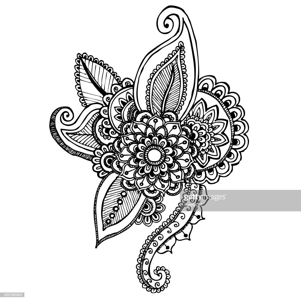 Mandala - hand drawn ornament illustration