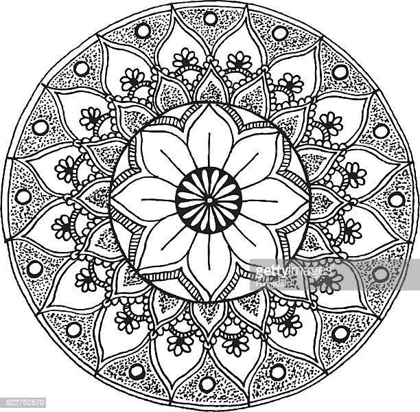 Mandala - hand drawn ornament illustration