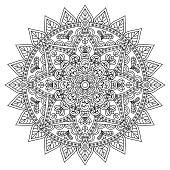 Mandala oriental pattern
