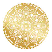 Mandala pattern.Arabic Vintage decorative ornament.Mandala gold background. Abstract Tribal,ethnic texture. Wedding,gold