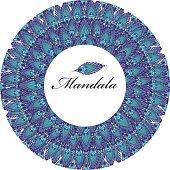 Mandala peacock feathers