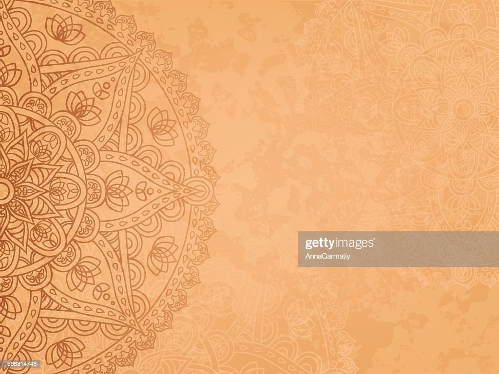 Mandala retro background