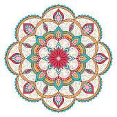 Mandala round ornament color