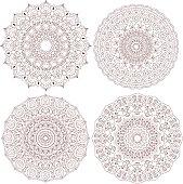 Mandala set. Vintage decorative elements.