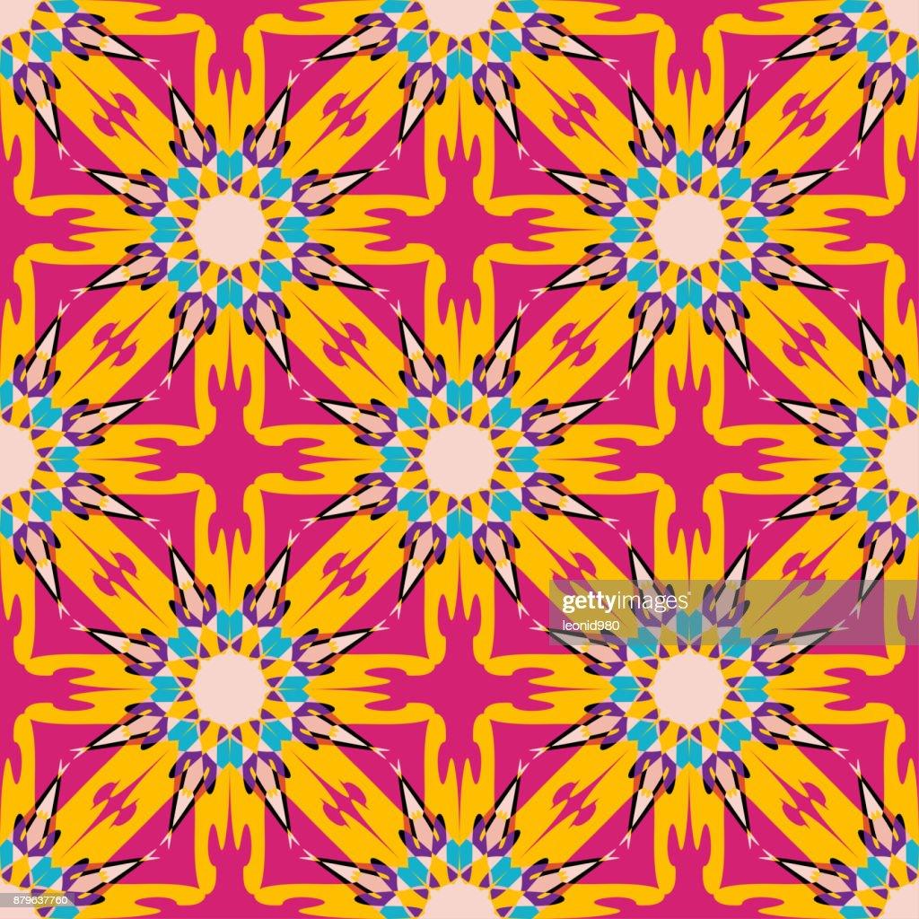 Mandala Vintage Tribal Seamless Pattern Vector Illustration Vector ...