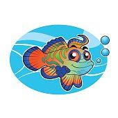 mandarin fish cartoon