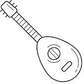 Mandoline line icon