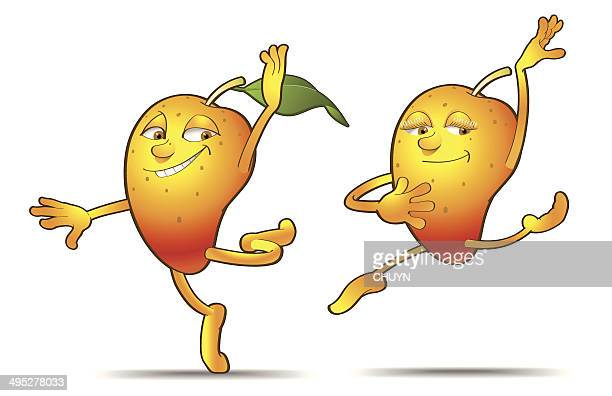 mango dance - mango fruit stock illustrations, clip art, cartoons, & icons