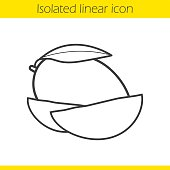 Free Download Of Outline Mango Fruit Vector Graphics And