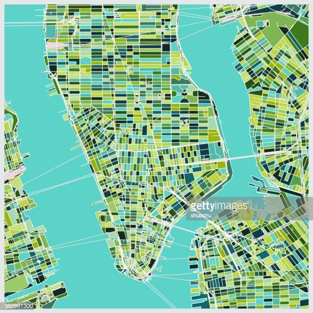Manhattan art map