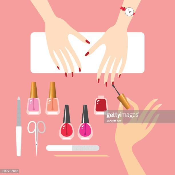 Manicure Stock Illustrations And Cartoons | Getty Images