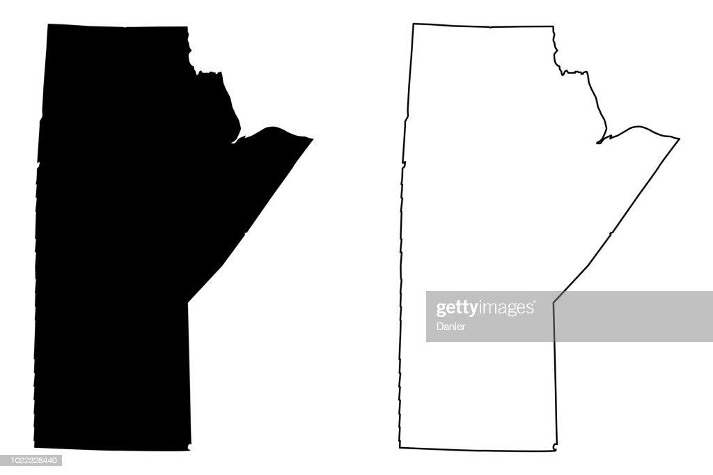 Manitoba (Canada) map vector