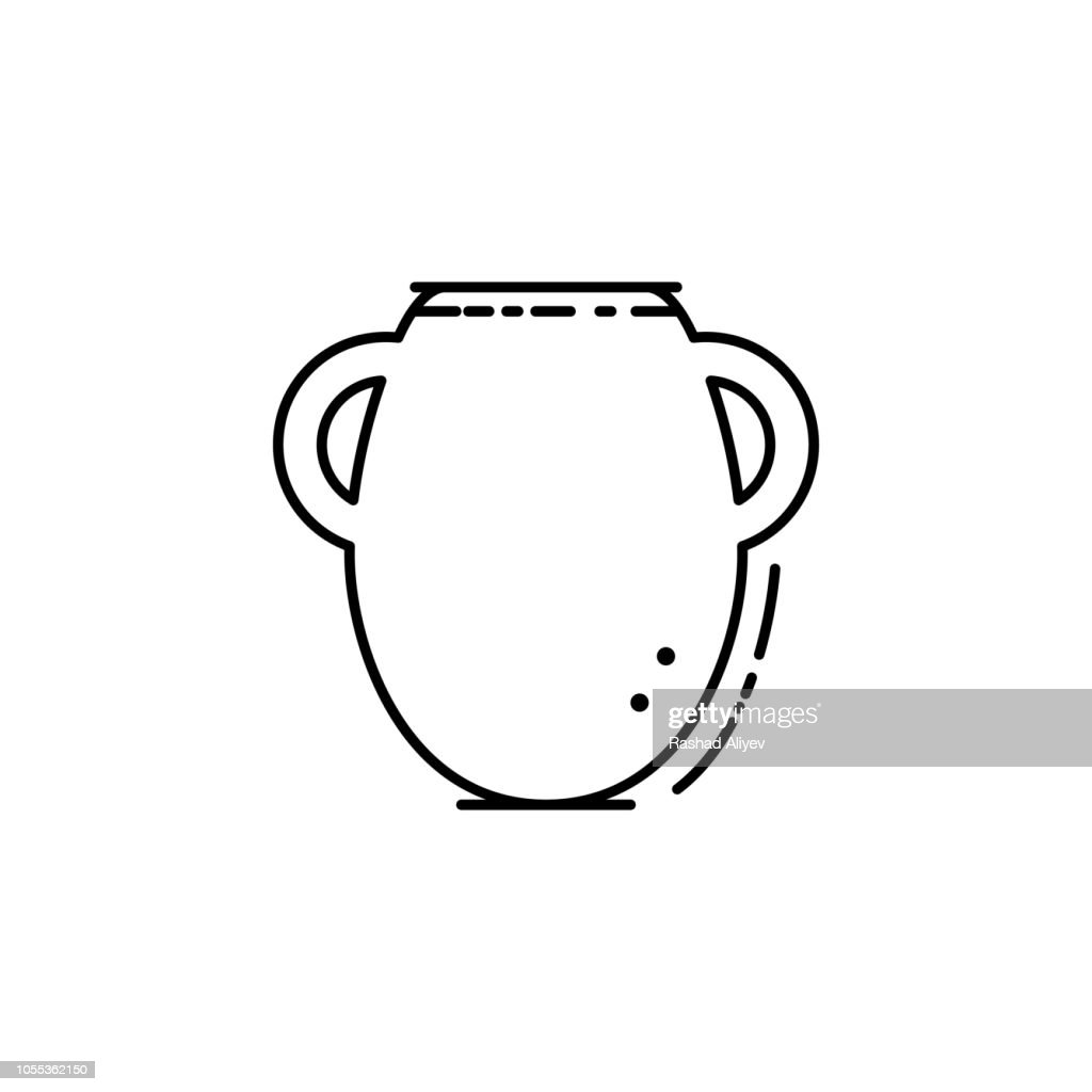 Manna jar icon. Element of Jewish icon for mobile concept and web apps. Thin line Manna jar icon can be used for web and mobile