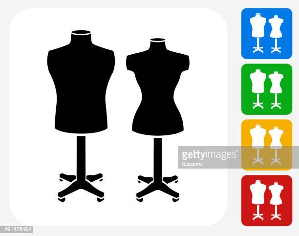mannequin icon flat graphic design - mannequin stock illustrations, clip art, cartoons, & icons