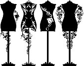 mannequin roses design set