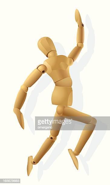 mannequin - figurine stock illustrations, clip art, cartoons, & icons