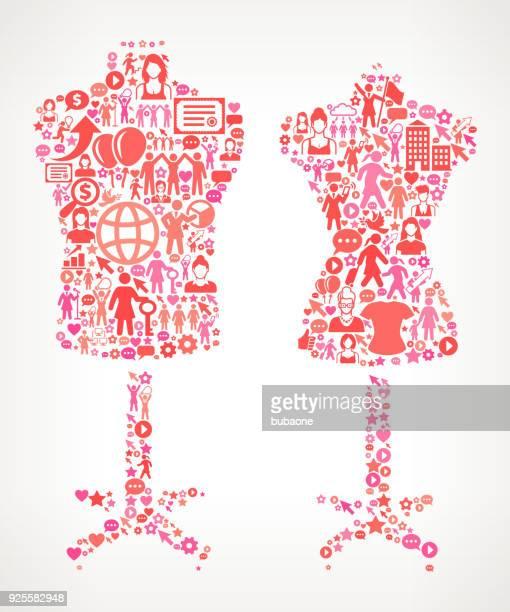 Mannequin Frauenrechte und weibliche Ermächtigung Symbol Muster