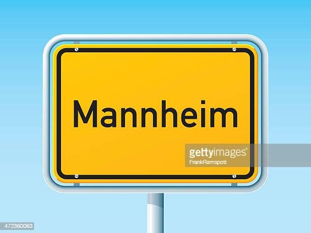 mannheim deutsche city road sign - mannheim stock-grafiken, -clipart, -cartoons und -symbole