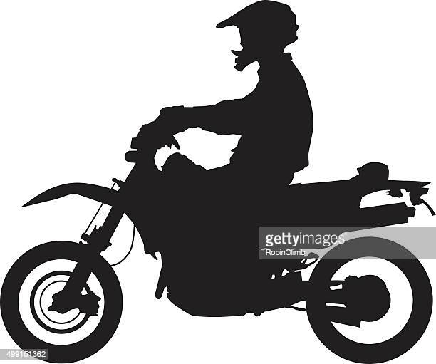 manonmotorcycle - motocross stock illustrations, clip art, cartoons, & icons