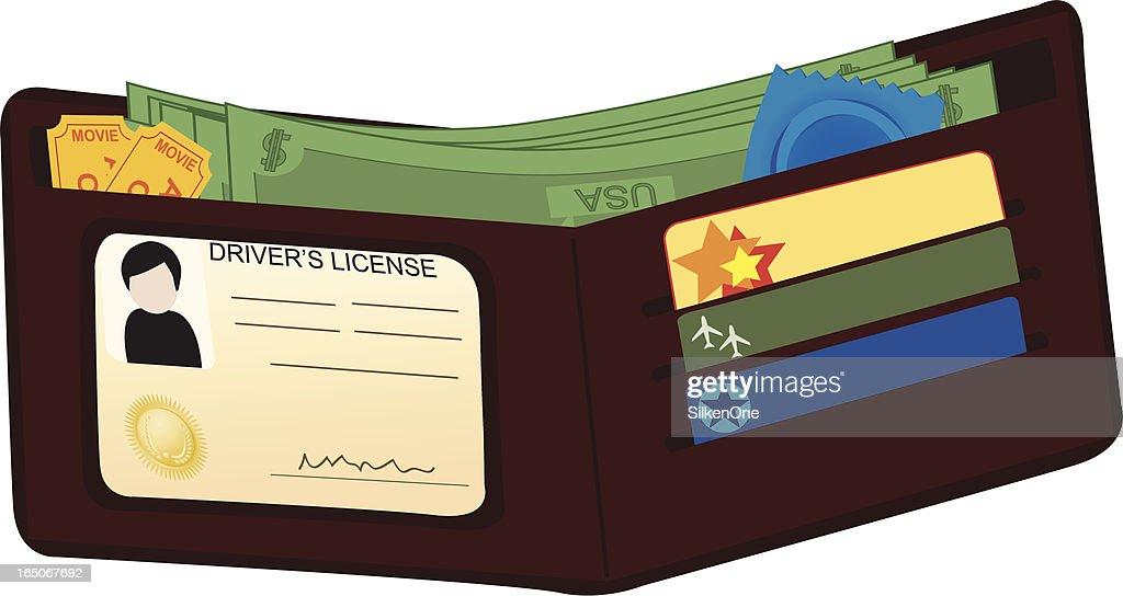 Man's Wallet : stock illustration