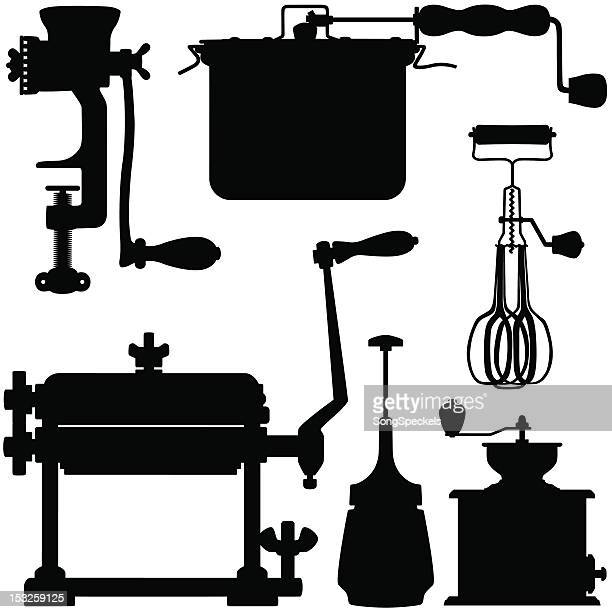manual kitchen appliances - egg beater stock illustrations, clip art, cartoons, & icons