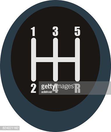 manual speed transmission shifter modern car drive stick knob  transportation stock illustration - getty images