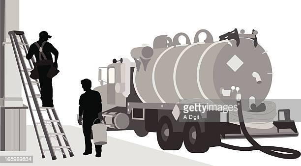 manual work - oil tanker stock illustrations, clip art, cartoons, & icons