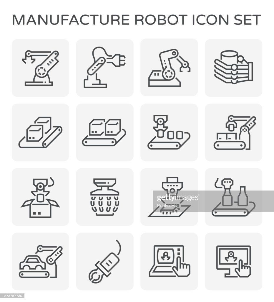 manufacture robot icon