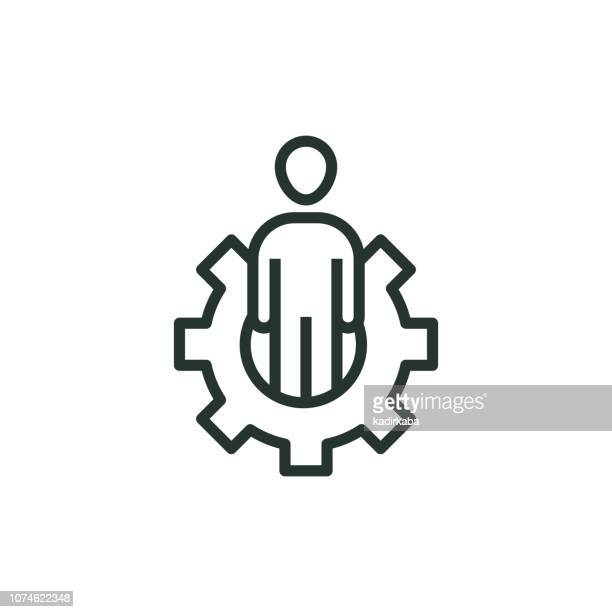 ilustraciones, imágenes clip art, dibujos animados e iconos de stock de fabricante línea icono - soldar