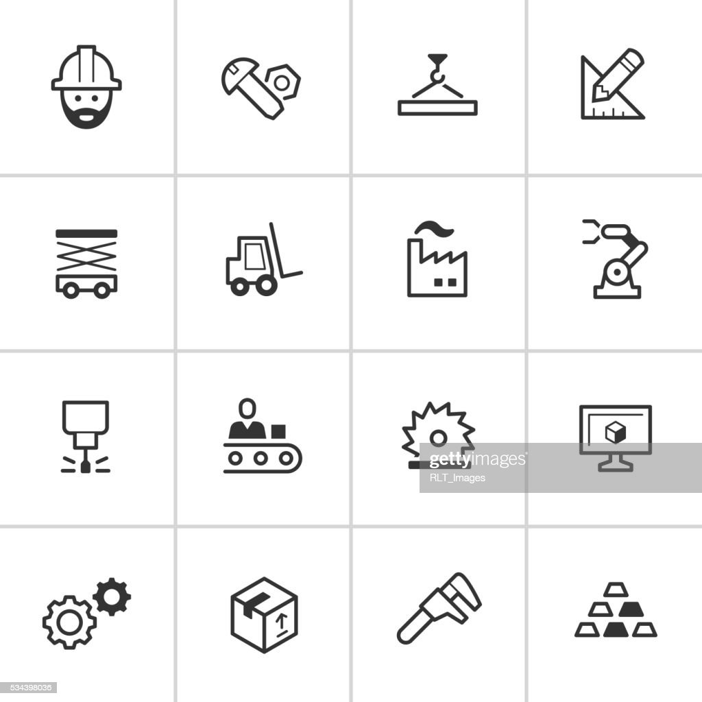 Manufacturing Icons — Inky Series