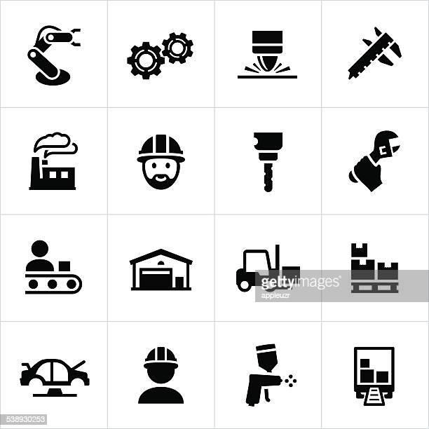 製造アイコン - 機械アーム点のイラスト素材/クリップアート素材/マンガ素材/アイコン素材