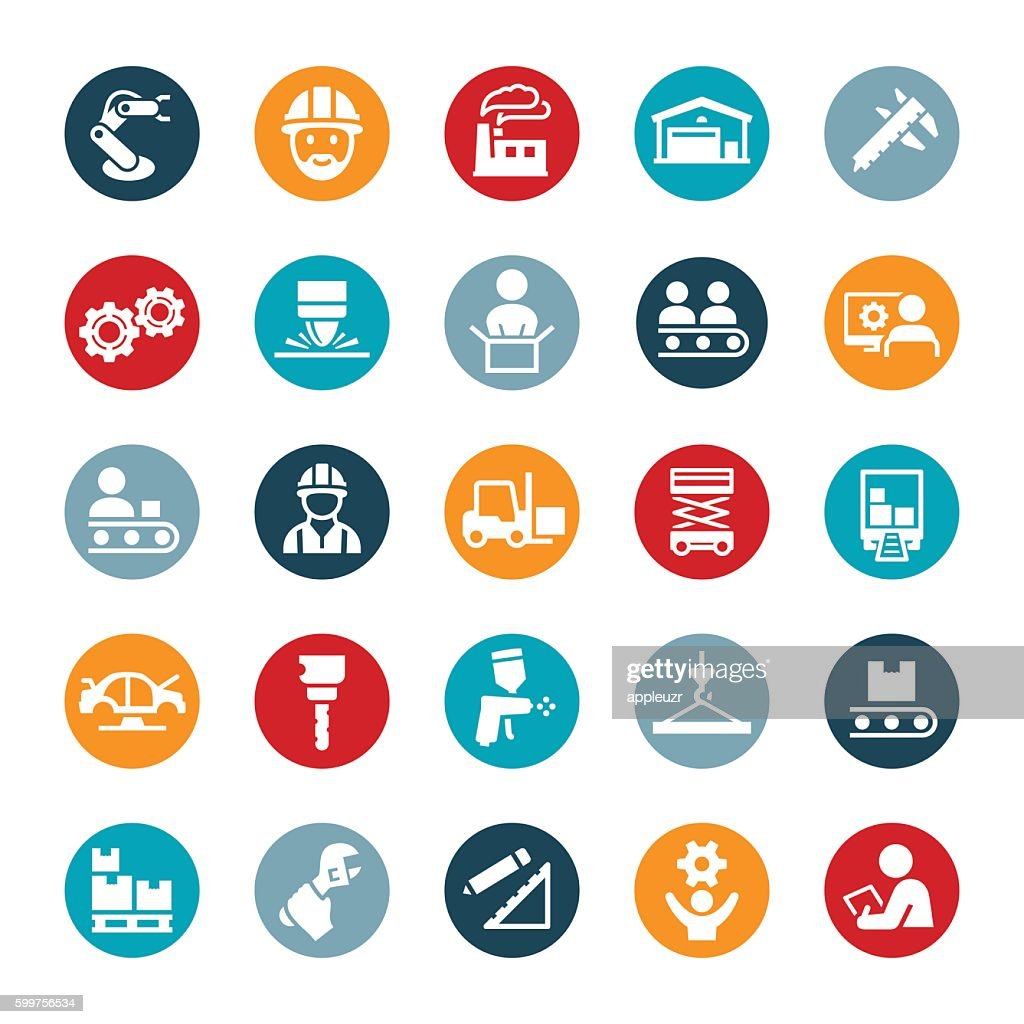 Manufacturing Icons : stock illustration