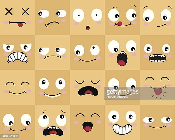 many cartoon faces - mouth stock illustrations, clip art, cartoons, & icons