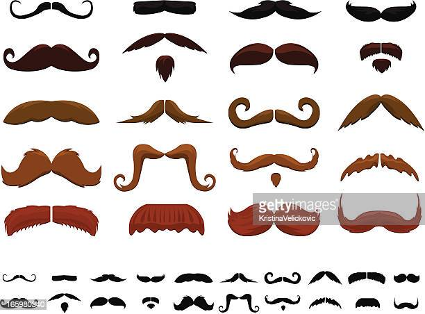 Many different colored mustaches