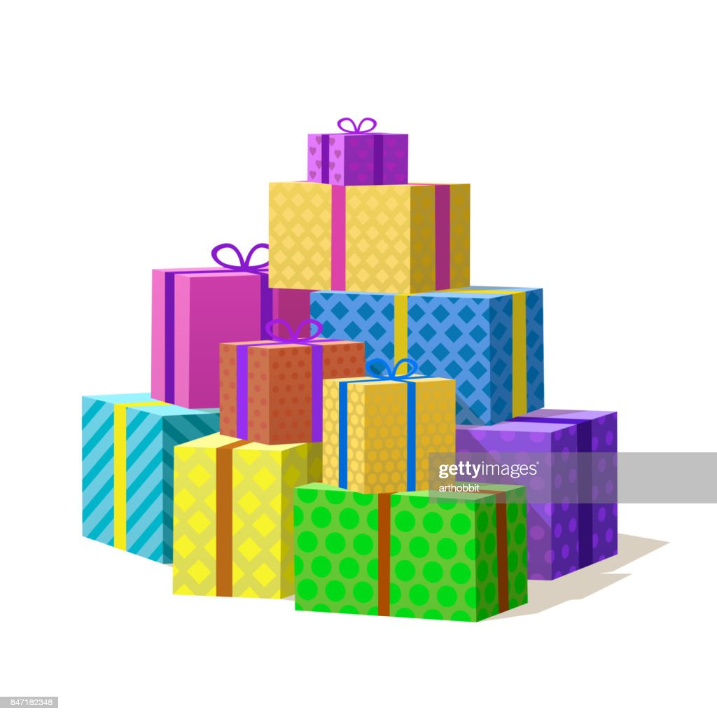 Many gift box, Mountain of Gifts.