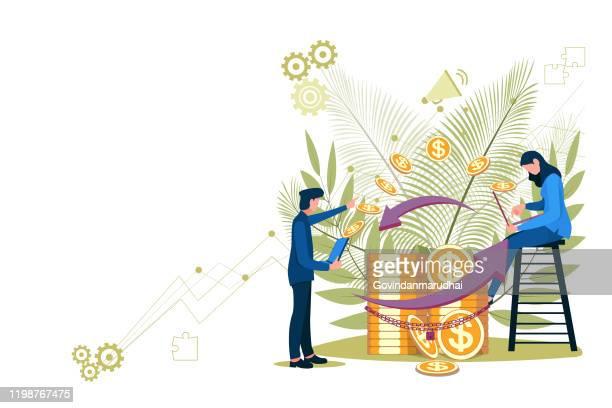 ilustrações, clipart, desenhos animados e ícones de muitos online banking para banner e site - loja de produtos eletrônicos