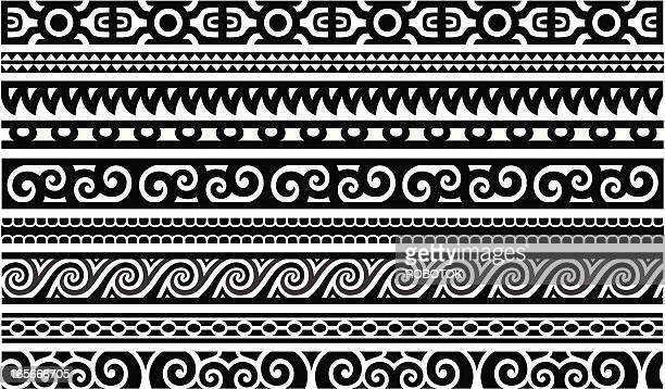 illustrations, cliparts, dessins animés et icônes de maori designs-frontières - culture indigène
