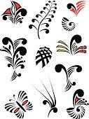 Maori Koru Design Elements Color Set