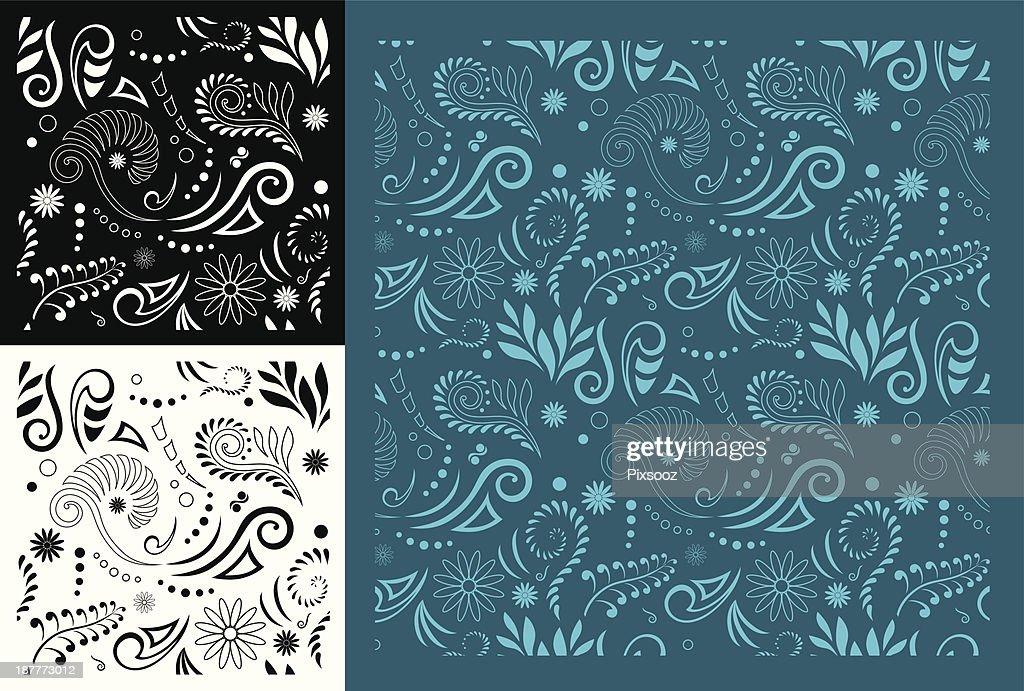Maori Koru Seamless Pattern