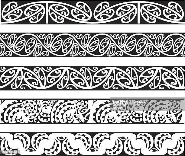 Maori Kowhaiwhai Nahtlose Muster